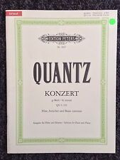 Quantz Konzert G minor Edition Peters for Flute & Piano (Shop display)