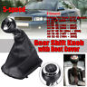 PU Leather Gear Shift Stick Gaiter Boot Cover 5 Speed For AUDI A3 A4 Q5 S3 S4