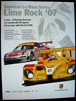 PORSCHE RS SPYDER AMERICAN LE MANS SERIES ALMS LIME ROCK RACECAR POSTER 2007