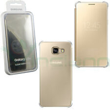 "Custodia CLEAR VIEW COVER ORO originale Samsung p Galaxy A5 A510F 2016 5.2"" case"