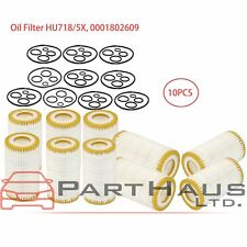 Engine Oil Filter+Gaskets HU 718/5x For Mercedes-Benz C CL CLK CLS Set Of 10Pcs