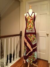 Jean Paul Gaultier Multi Color Floral Halter Top and Long Skirt Size Large