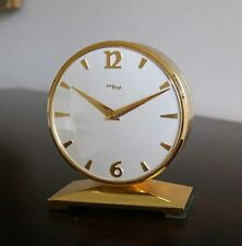RARE MID CENTURY IMHOF TWO DIAL PARTNER'S CLOCK.