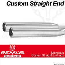 Silencieux Remus Straight End Inox noir Harley-Davidson FXDL Low Rider 14-