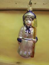 Patricia Breen Mrs.Shaw Milaeger's Exclusive Lady Gardener Purple Scarf Ornament