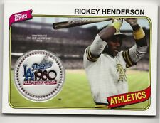 Rickey Henderson 2018 Topps Series 2 ALL-STAR GAME 1980  Logo Patch A's