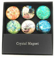 Value Arts Van Gogh's Glass Dome Magnets, Assorted Images, Set of 6