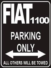 Parkplatzschild 32x24 cm schwarz - Fiat 1100