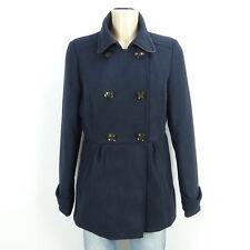 TALLY WEIJL Jacke Coat Winterjacke Wolloptik Navy Blau Gr. 40