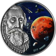 Burkina Faso 2017 1000 Francs Johannes Kepler - 3 Martian Meteorites Silver Coin