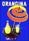 Orangina Drink Vintage Poster Print Cafe Table Retro Style Wall Home Decor Art