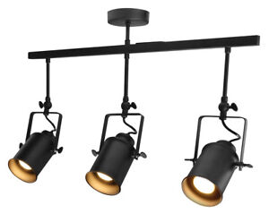Modern Retro 3 Way Adjustable GU10 Ceiling Spotlight Kitchen Bar Light M0054