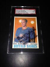 Mike McMahon Signed 1970-71 O-Pee-Chee OPC Buffalo Sabres Card SGC #AU148076