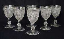 BACCARAT : 6 Grands Verres en Cristal Modèle « Diamants Biseaux » XIXème