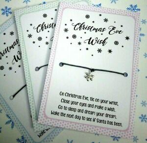 Christmas Eve Wish Bracelet - Christmas Eve Box Filler 💕Stocking Fillers💕Gift