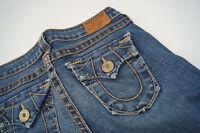 TRUE RELIGION Damen stretch skinny Jeans Hüft Hose Gr.27 W27 L32 27/32 blau #ww
