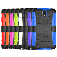 For Samsung Galaxy Note 3 Case Tough Hard Hybrid Armor Kickstand Phone Cover