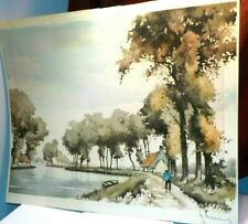 G. Hibbeling African American signed by Artitst Print Litho Louisiana Bayou