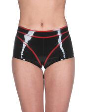 Latex Rubber Gummi Sexy Panties Red Trim Short Pants Party Dress Customize .04mm