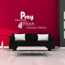 WALL STICKERS PRAY ALLAH  ISLAMIC  WALL QUOTE STICKERS  VINYL WALL ART DECAL  D8