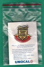 Original Unopened 1988 Dodgers Unocal 76 Cy Young Winners Koufax Drysdale Pin