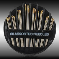30PCS Assorted Hand Sewing Needles Embroidery Mending Craft Quilt Sew Case Gifts