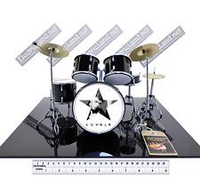 Mini Drum set BOWIE Blackstar tribute album collectible miniature scale 1:4 kit