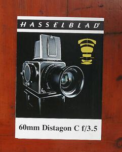 Hasselblad 60/3.5 Distagon C Vente Brochure / 116208