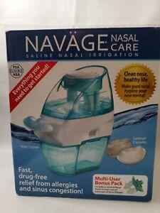 Navage Nasal Care Saline Nasal Irrigation System Nose Cleaner 20 Pods