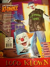 Loco the Klown Clown Costume 4pc Scary Horror Circus Teen Boys/Men 34-36