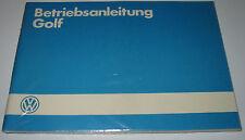 Betriebsanleitung VW Golf 2 II Typ 19 E 37-102 kW Benzin Diesel GTI  07/1985 NEU