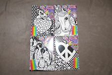 COMPLETE SET of 4~ Lisa Frank Velvet Art kit Unicorn, Tiger Cub, Penguins, Heart