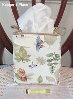 Longaberger Botanical Fields Tissue Kleenex Small Sort & Store Holder New Tag