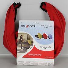 Phil & Teds Snug Babywanne Sonnendach Verdeck Navigator Hood Cheery Rot S3-PT
