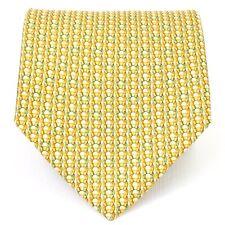 Salvatore Ferragamo Horseshoe Pattern Tie - Yellow/Green - Made in Italy - Silk