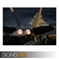 A JET LAUNCHES FROM THE (AC137) ARMY POSTER - Photo Poster Print Art * All Sizes