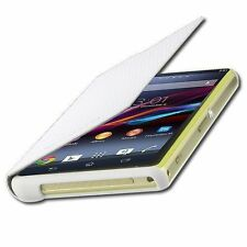New Genuine Official Roxfit Sony Xperia Z1 Compact Book Case Flip White SMA5140W