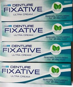 DENTAL CARE DENTURE FIXATIVE ULTRA CREAM FRESH MINT FLAVOUR ADHESIVE CREAM 50ML