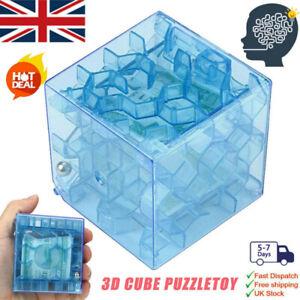 gaFgPT 3D Cube puzzle money maze bank saving coin collection case box fun brain/