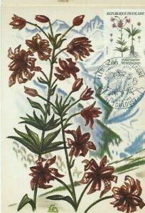 Card Postal CEF 1er Day France Flowers Of Mountains Martagon 1983