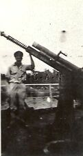 WWII US Army RP- Japanese Airfield- Captured Antiaircraft Gun- Artillery Cannon