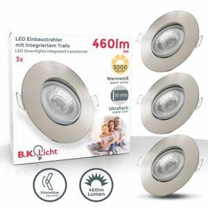LED Einbauspots schwenkbar Strahler Lampe ultra-flach Deckenspots IP23 3er SET