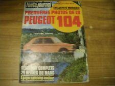 L'AUTO JOURNAL 15 / 06 / 1972 BANC D'ESSAI RENAULT 16 TS A...1ére photos 104