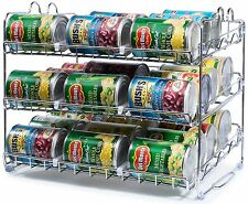 Stackable Can Rack Organizer Storage 36 can Pantry Shelf Kitchen Cabinet DURABLE