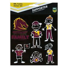 Licensed NRL Brisbane Broncos FAMILY Car Sticker Sheet Christmas Birthday Gift