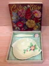 Carlton Ware Boxed Individual Butter Dish & Ceramic Spreader.