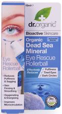 Dr Organic Dead Sea Mineral Eye Rescue Rollerball 15ml Revitalising & Energising