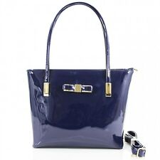 Ladies Shiny Patent Bow Handbag Women Shoulder Bag Grab Girls Fancy Bags