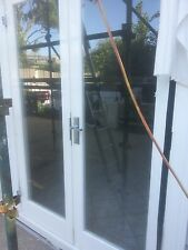 FRENCH DOORS SET 1 lite glass SOLID KD Hardwood doors 2040mm x 700mm x 45mm used