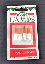 NOMA W1 AMBER PLUS FUSE 0242A (0340A) CARDED 12V 1.1W SPARE BULBS (1390)